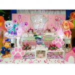 fiesta paw patrol rosa para niña de 1 año