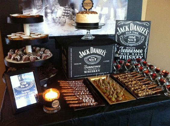 fiesta tematica jack daniel para 18 años