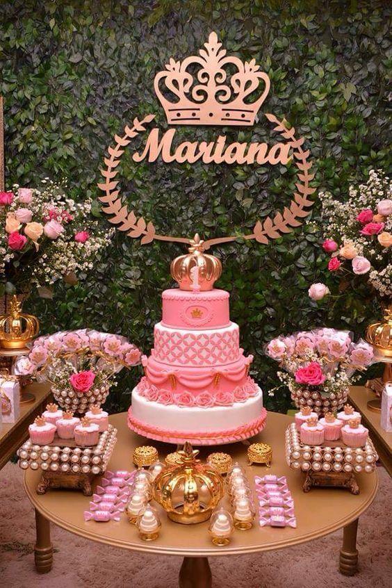 fiesta tematica royal para niña 1 año