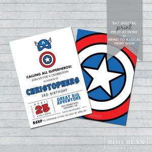 Invitacionesde capitan america