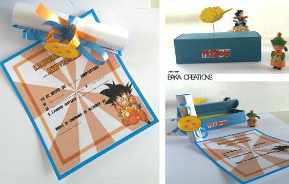 Invitaciones de dragon ball z