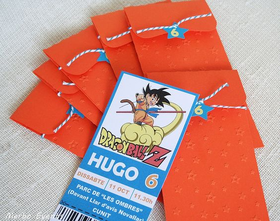 invitaciones de dragon ball z (2)