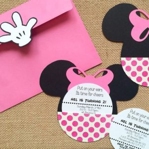 Invitaciones de minnie mouse