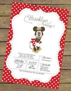 Invitacionesde minnie mouse