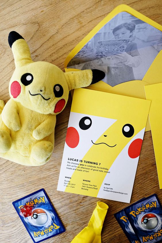 Invitaciones de pokemon