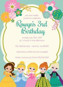 Invitacionesde princesas disney