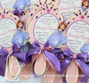 Invitacionesde princesita sofia
