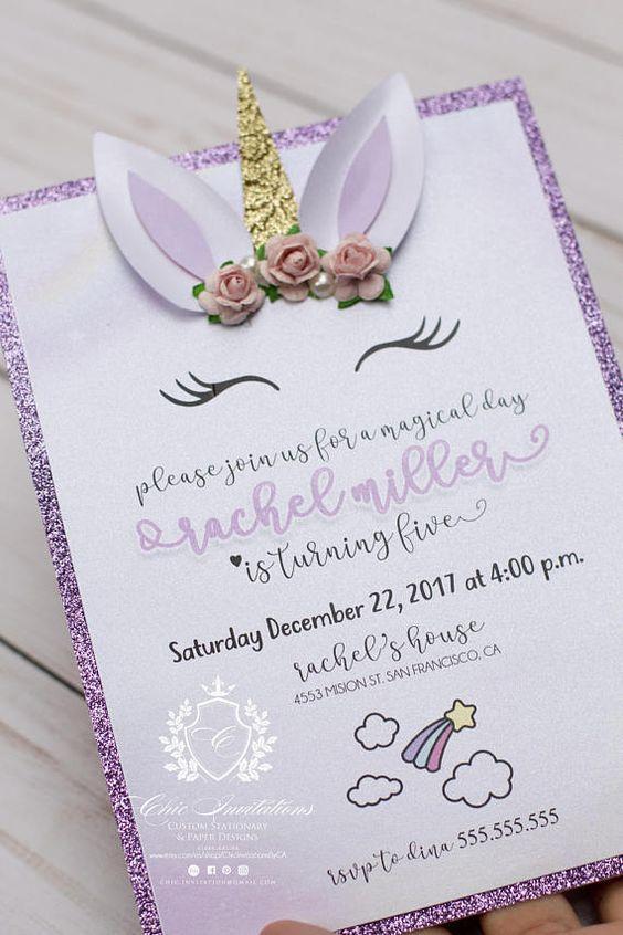 Invitacionesde unicornio
