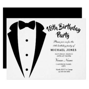 invitaciones para fiesta de 18 hombre