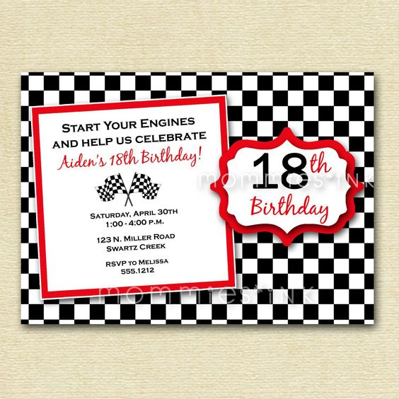 Invitaciones para fiesta de 18 años para hombre