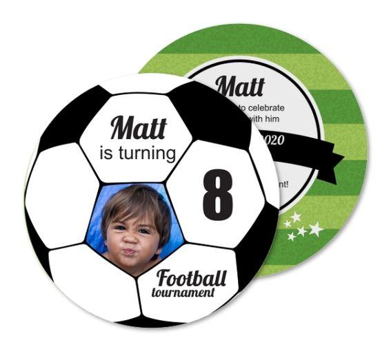 invitaciones para fiesta infantil futbol