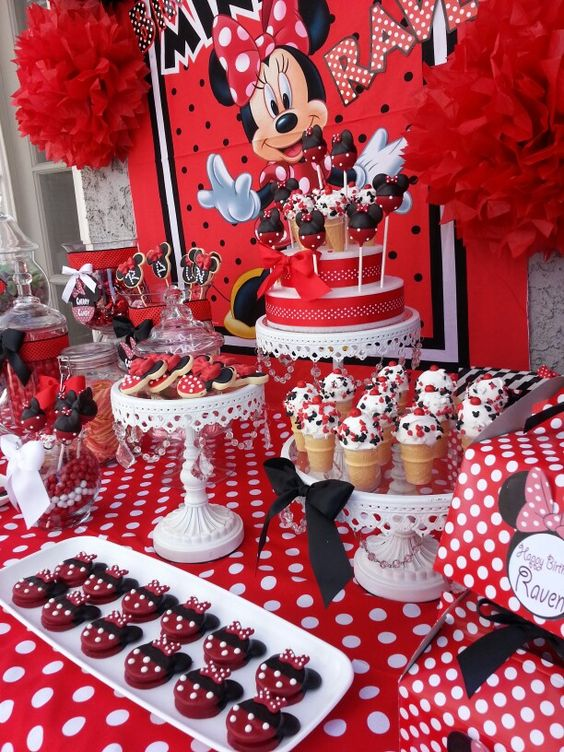 Mesa principal de minnie mouse