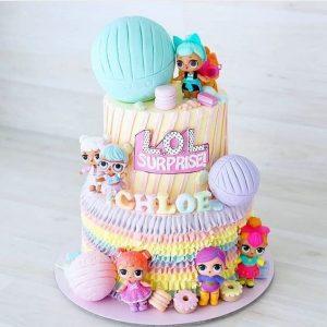 Pastel de muñecas LOL surprise