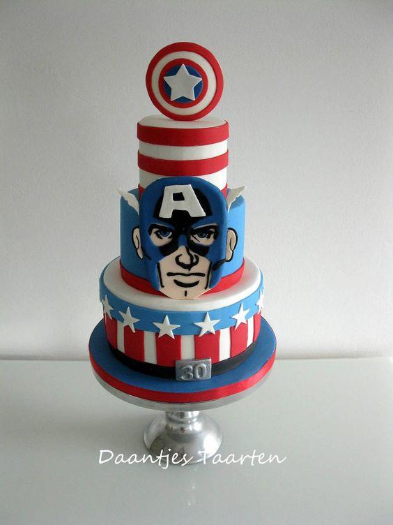 Pasteles de capitan america