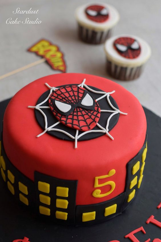 Pasteles de spiderman