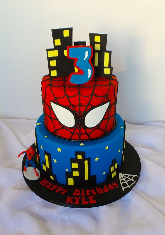 pasteles de spiderman (2)