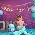 tema de mermaid para fiesta de 1 año de niñas