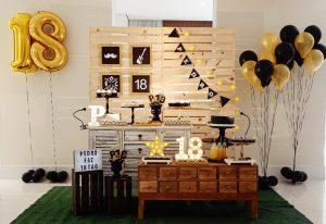 temas para decorar fiestas 18 años de hombre