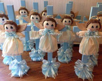 Centros de mesa de bautizo con angeles