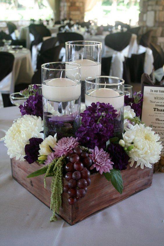 Ideas para centros de mesa de bautizo tendencias 2018 - Mesas con cajas de madera ...