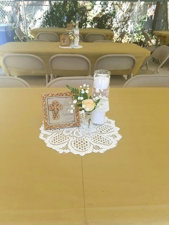 Centros de mesa para bautizo economicos