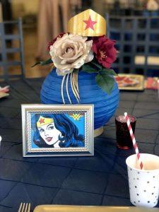 centros de mesa para fiesta de la mujer maravilla
