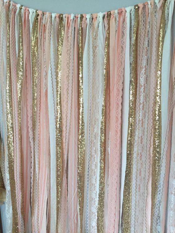 Colgantes modernos para decorar fiestas con listones