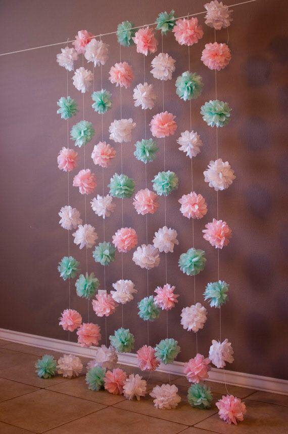 Colgantes modernos para decorar fiestas con papel china