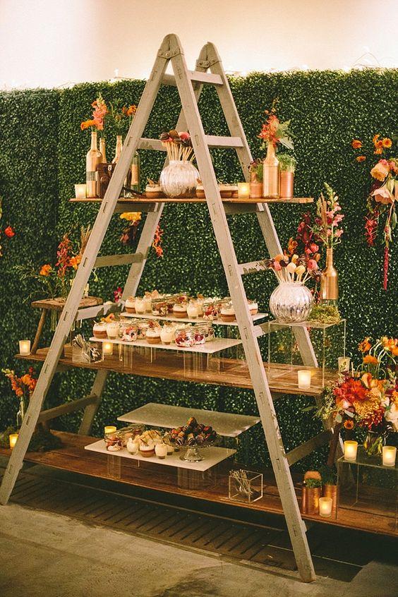 mesa de dulces verticales