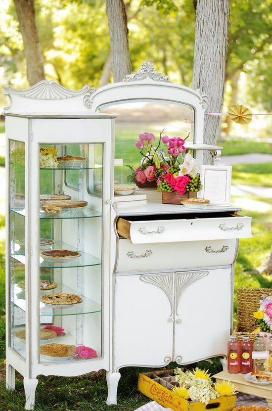 muebles para mesas de dulces verticales
