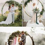 altares y arcos modernos para boda