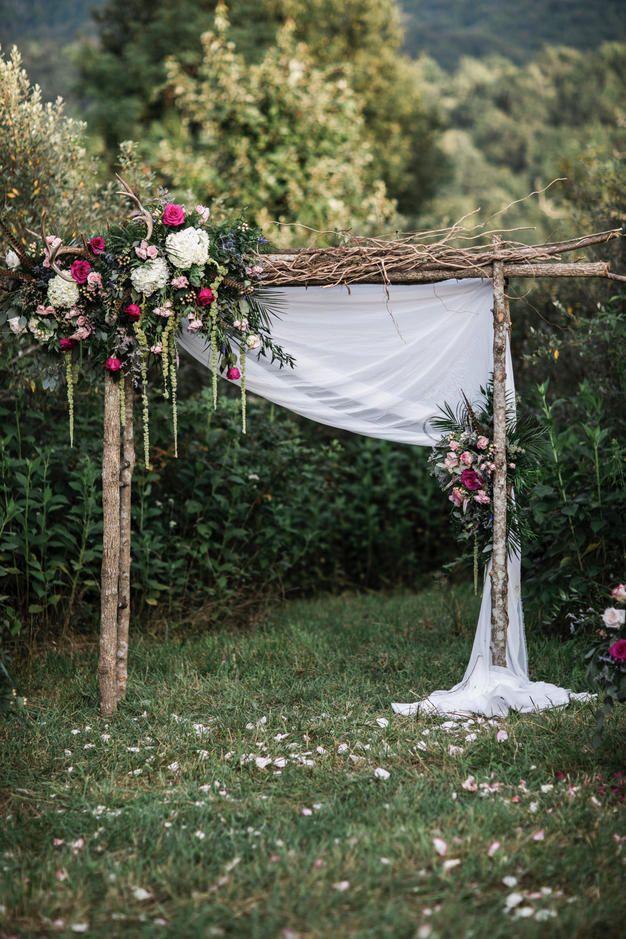 arco para boda al aire libre