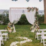 arco para boda de madera