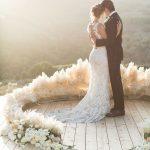 arco para boda en el suelo