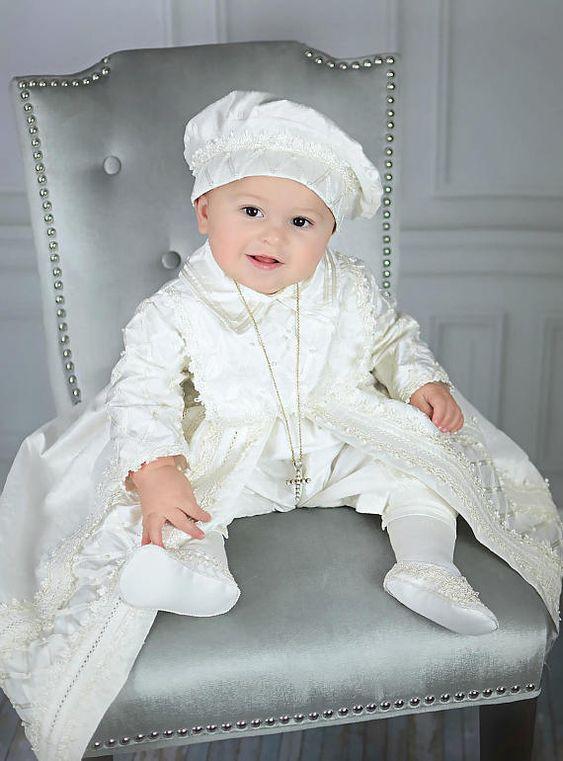 ropones clasicos para bautizo