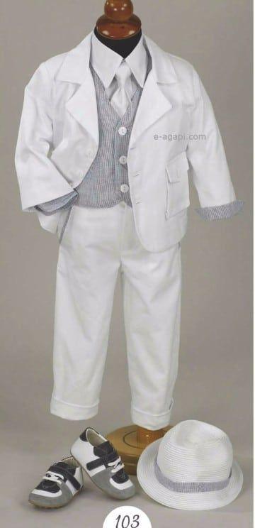 traje elegante para bautizo