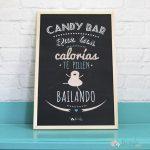 carteles para mesas de dulces