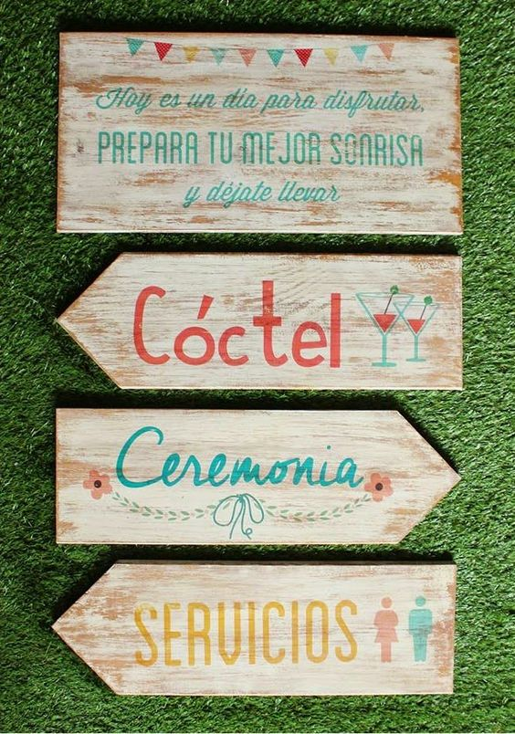 tipos de letreros para mesa de dulces