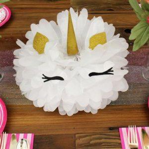 centro de mesa de unicornio para niño