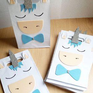 dulceros de unicornio para cumpleaños de niño