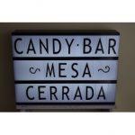 letreros para mesa de dulces cerrada
