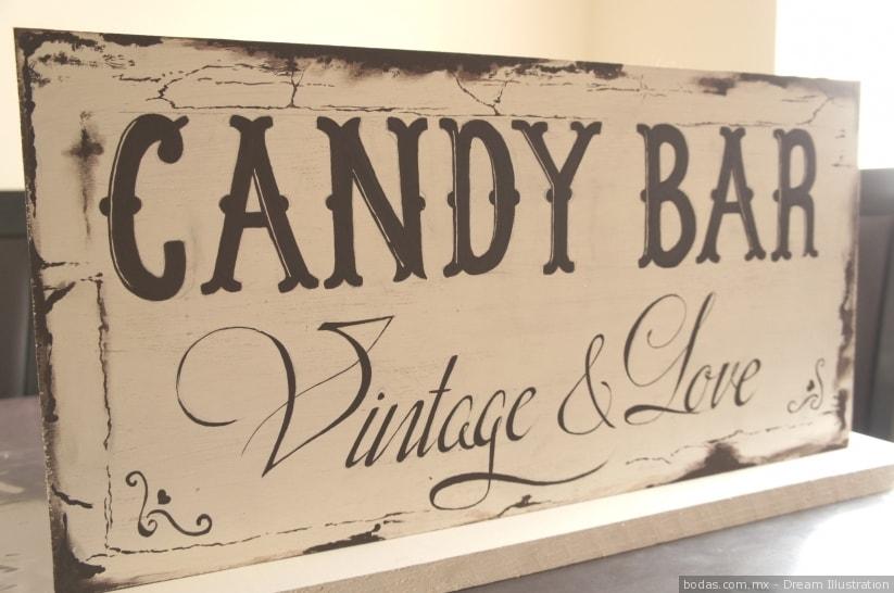 mesa cerrada letreros vintage