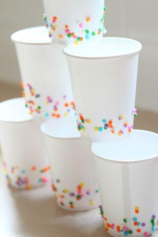 Detalles para fiestas tematicas de confeti
