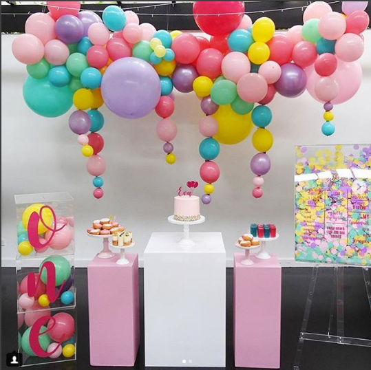 Fiestas tematicas de confeti