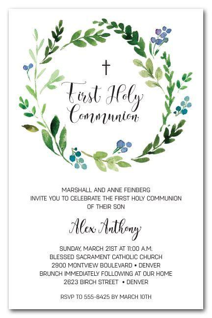 Invitaciones para primera comunión de niño