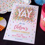 Invitaciones de confeti