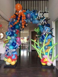 Decoración para fiesta de baby shark