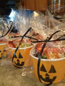 Dulceros para fiesta infantil temática de halloween