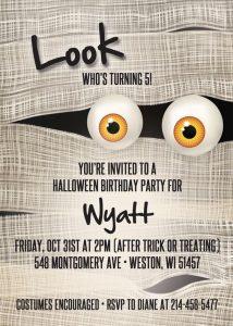 Invitaciones para fiesta temática de halloween