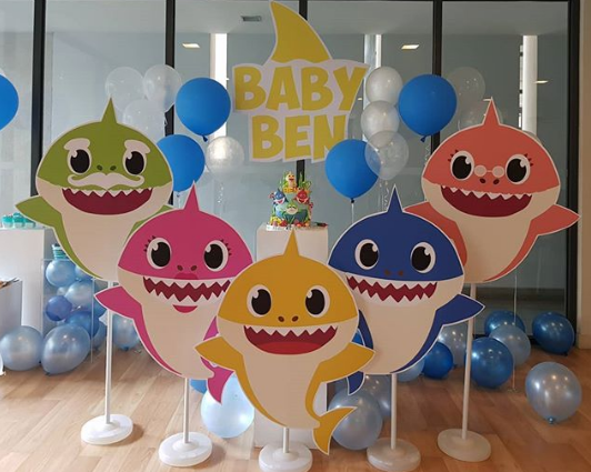 Sets para fotos de baby shark